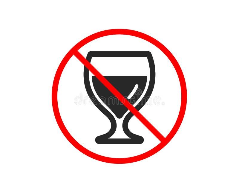 Wina szk?a ikona Alkoholu napoju znak wektor ilustracji