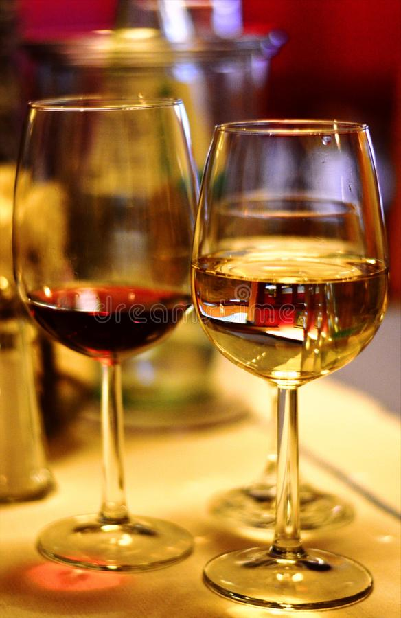 Wina szkło, Stemware, napój, Szampański Stemware obrazy royalty free