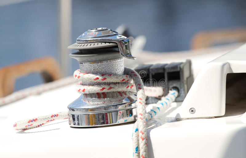 Download Winch  rope stock image. Image of rolled, sail, water - 23465065