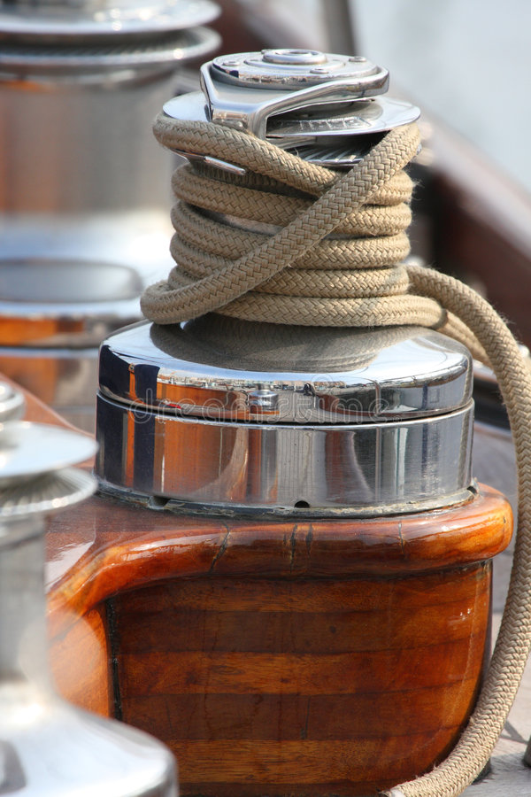 Winch and rope royalty free stock image