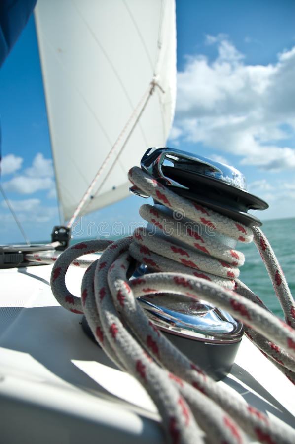 Winch And Sail Royalty Free Stock Image