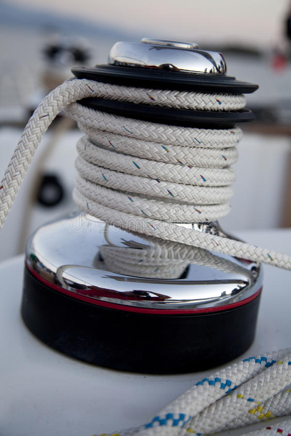 Download Winch on the sailboat stock image. Image of rolled, nobody - 21298499