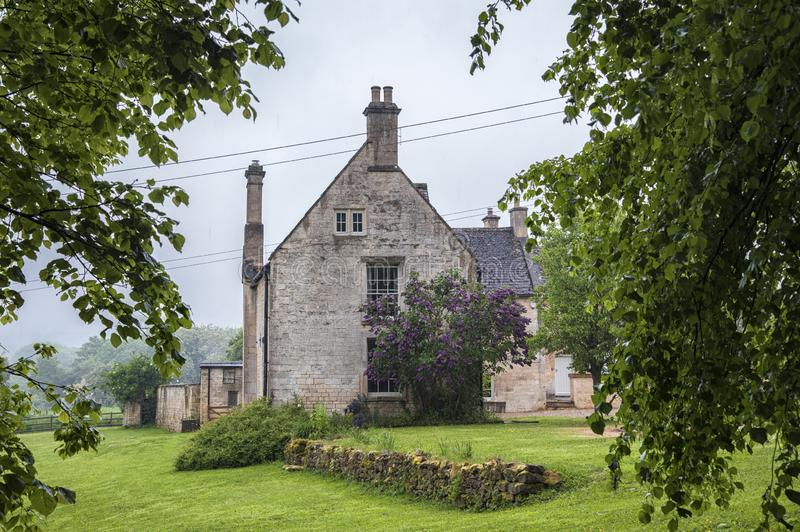 Cottage in the ancient Anglo Saxon town of Winchcombe, Cotswolds, Gloucestershire, England stock photo