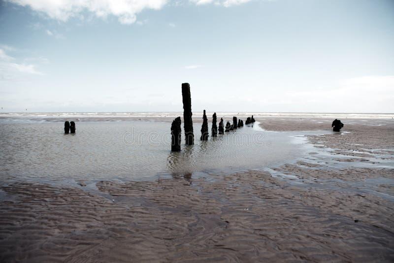 Winchelsea Angleterre de côte de temps de plage image stock