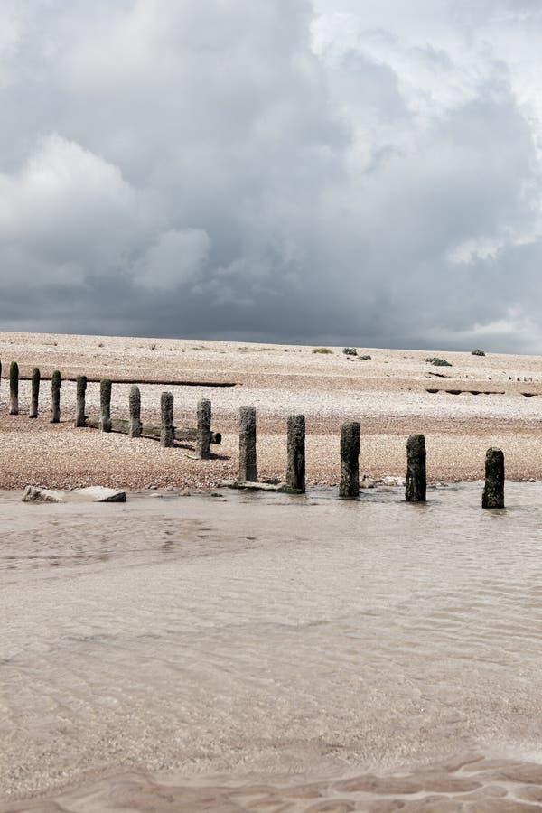 Winchelsea Angleterre de côte de temps de plage photo libre de droits
