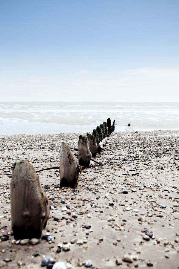 Winchelsea Inglaterra de la costa del tiempo de la playa foto de archivo