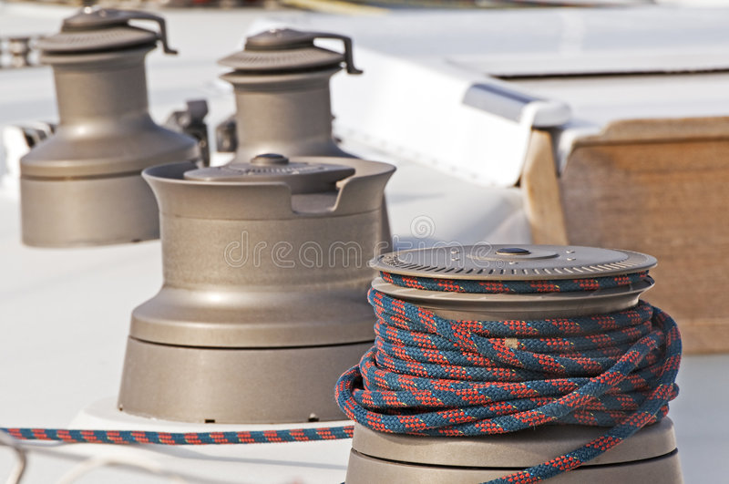 Download Winches stock image. Image of nautical, maritime, sailboat - 4533291