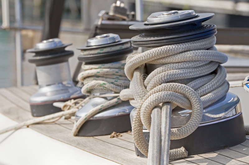 Download Winches stock image. Image of sail, sailor, roll, hoist - 4533327