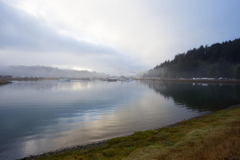Winchester Bay Marina and Harbor royalty free stock images