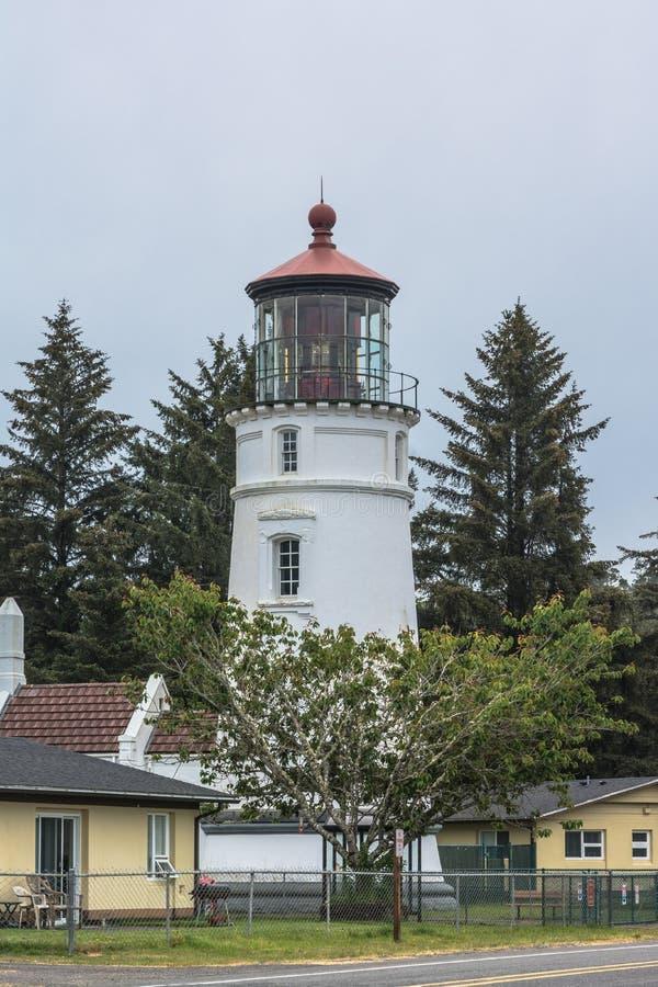 The Umpqua River Lighthouse, Winchester Bay, Oregon stock photo