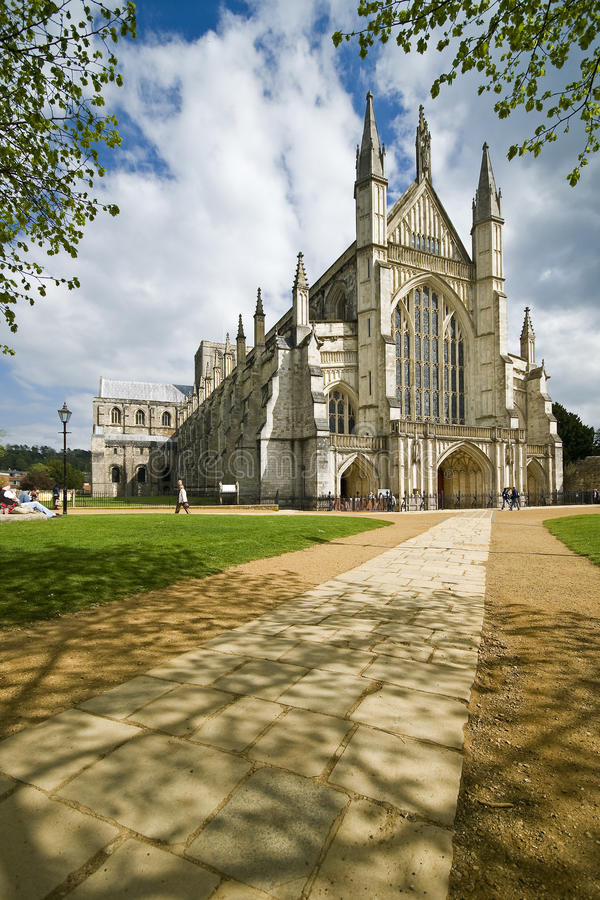 Winchester Cathedral royalty free stock photos
