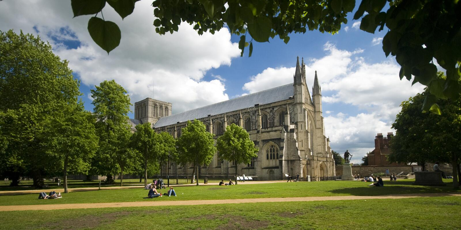 Winchester Cathedral stock photography