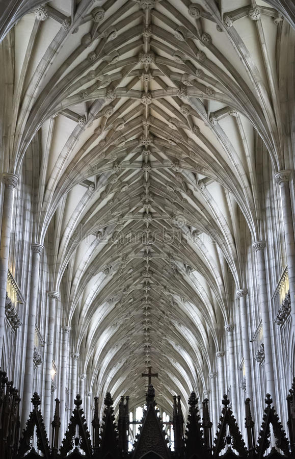 Download Winchester Cathedral Ceiling Stock Photo - Image: 24663712