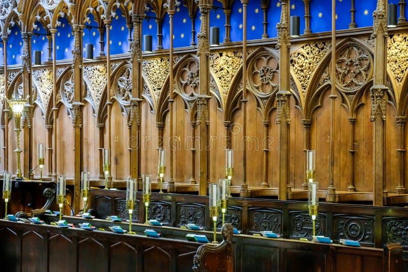 WINCHESTER, HAMPSHIRE/UK - 6 DE MARÇO: Vista interior de Winchester imagens de stock royalty free