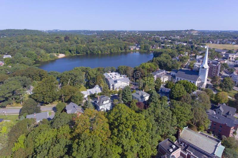 Winchester im Stadtzentrum gelegen, Massachusetts, USA stockfotografie