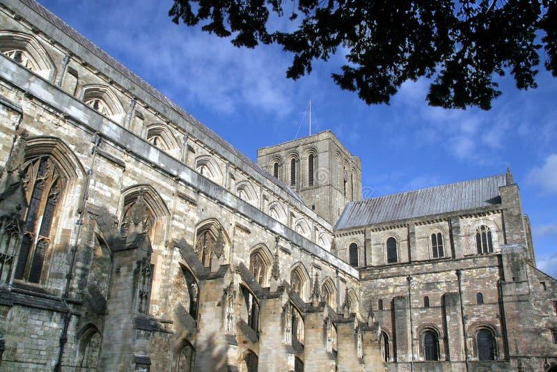 Winchester, la cattedrale immagine stock