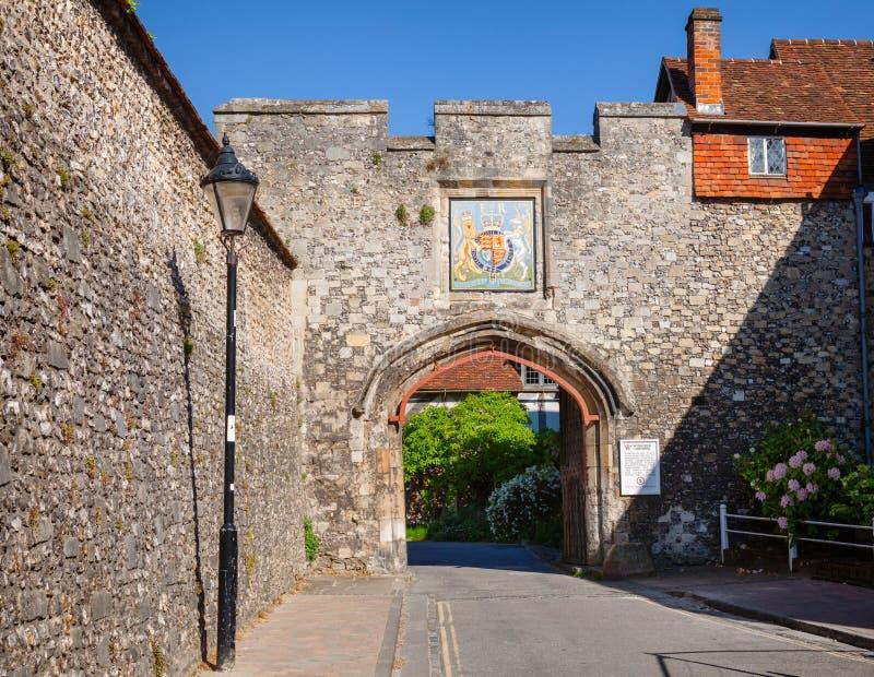Winchester Priory Katedralna brama Hampshire Południowo-wschodni Anglia UK obrazy royalty free