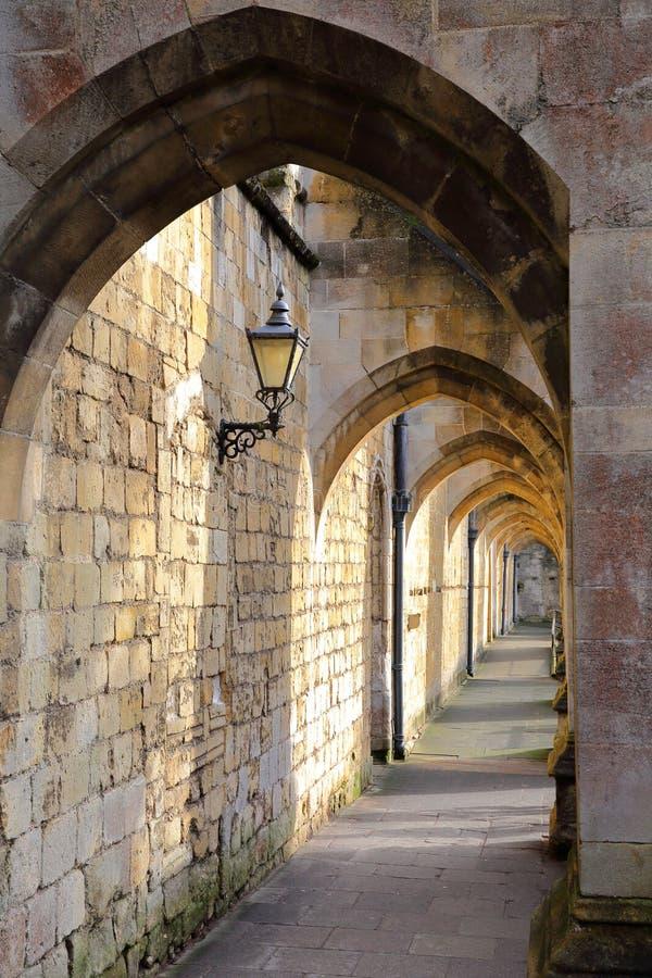 WINCHESTER, UK: Curles przejścia łuki katedra fotografia royalty free