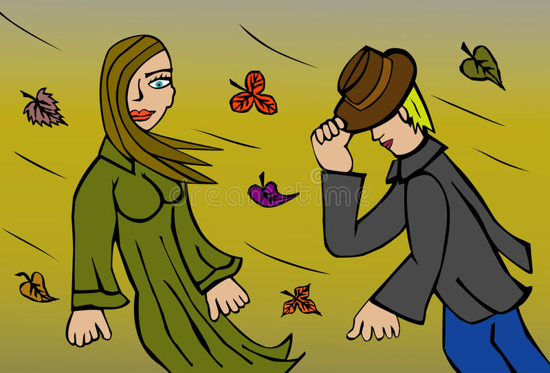 wind royaltyfri illustrationer