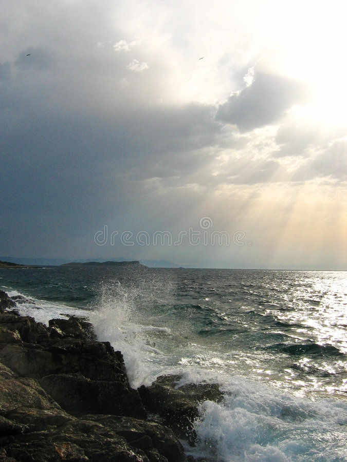 Download Wind stock image. Image of wave, rock, cloud, water, adriatic - 167155