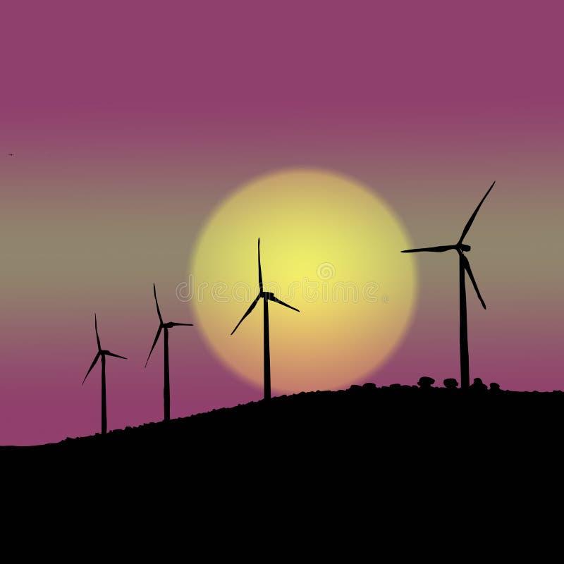 wind stock illustrationer