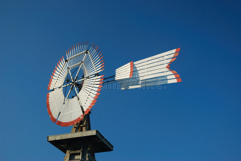 Wind Alternative Energy. Wind supplied the energy for windmills to pump water for farming and ranching operations stock image