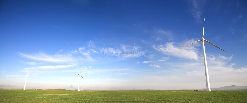 Wind angeschaltene Turbine lizenzfreies stockbild