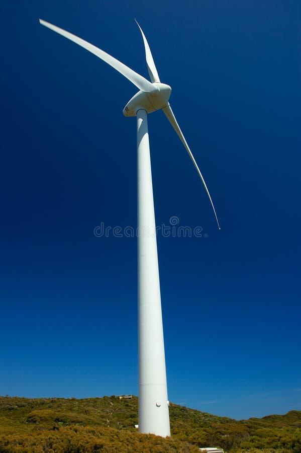 Wind-Bauernhof, Albanien lizenzfreies stockfoto