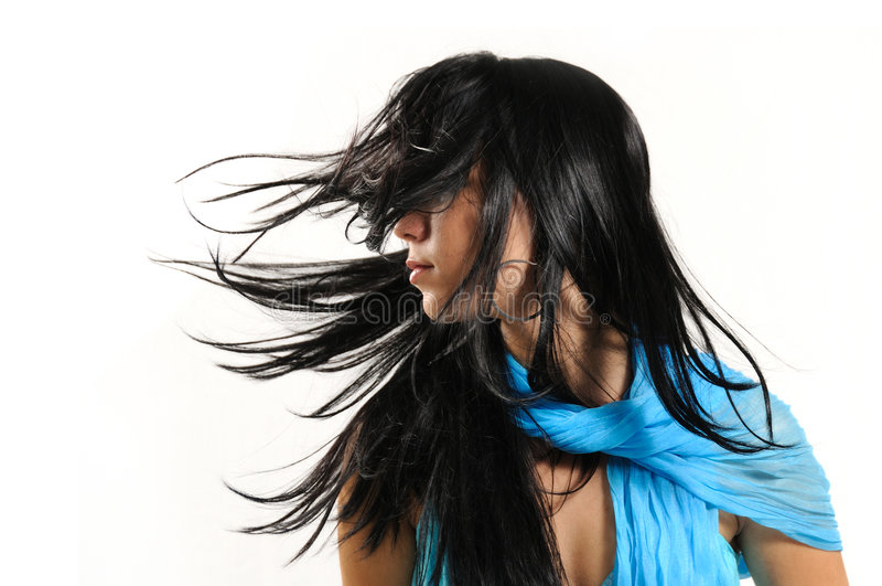 Wind beauty stock photo