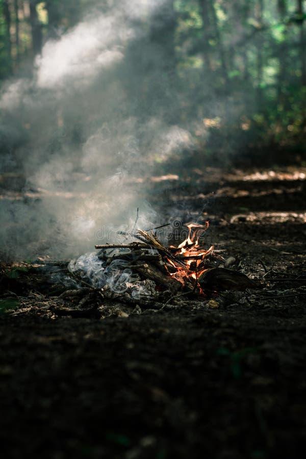 Wind brennt auf Kohlen durch stockbild