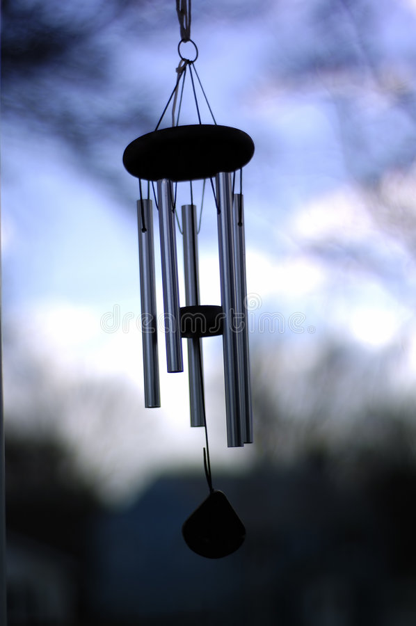 Wind Chime. A Wind chime isolated against a natural background royalty free stock photography