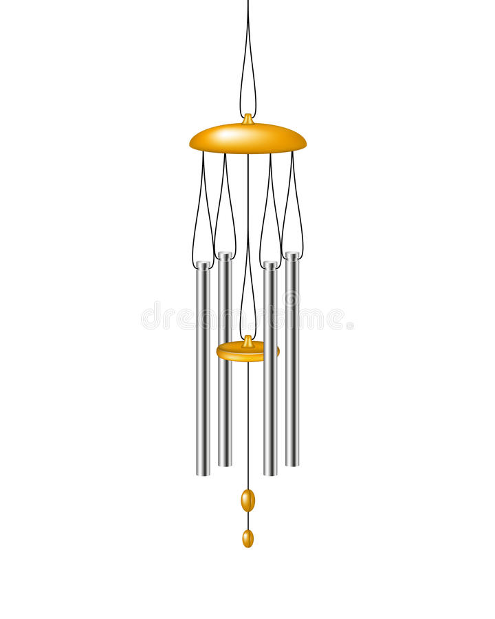 Wind chimes stock illustration