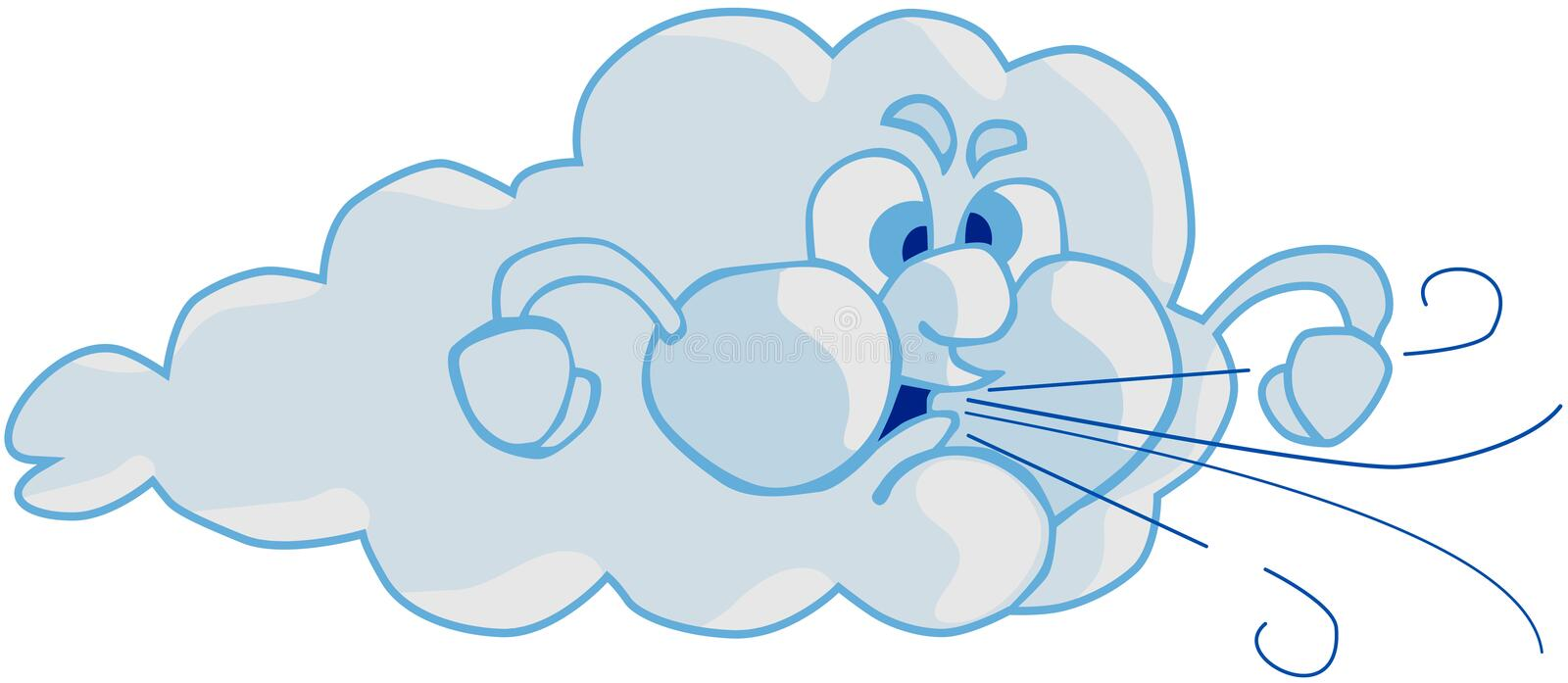 Wind and Cloud vector illustration