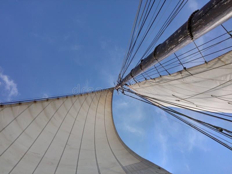 Wind in de zeilen stock fotografie