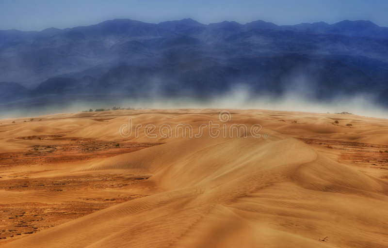 Wind of Death Valley stock image