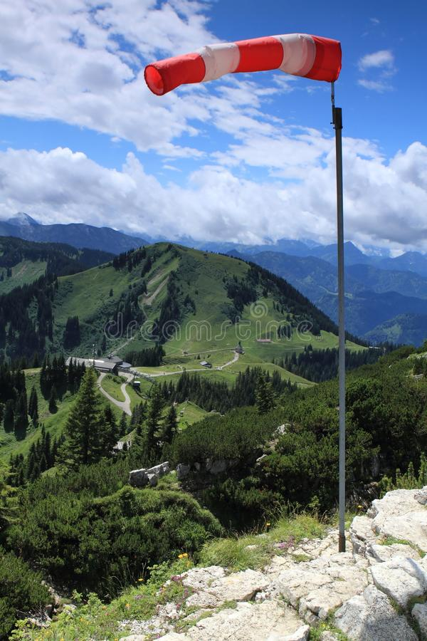 Wind In Den Alpen Lizenzfreies Stockfoto