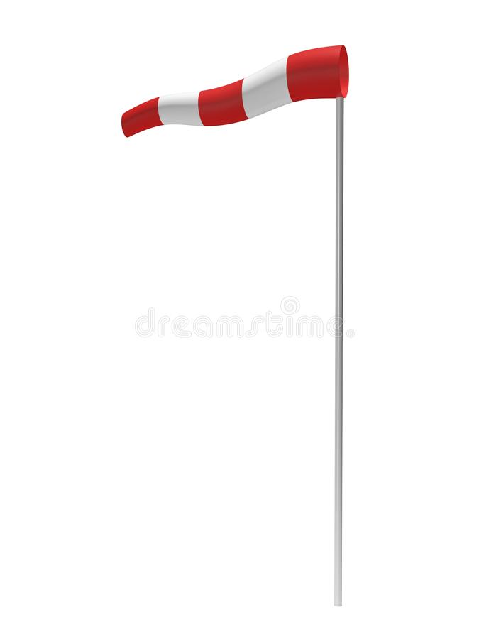 Wind direction indicator 3d rendering. On white background stock illustration