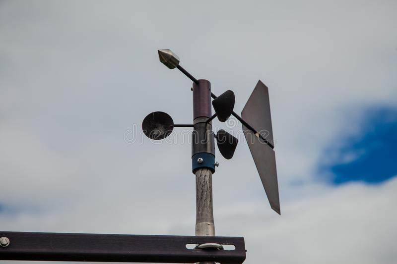 Wind direction meter. Thailand Dam stock photography