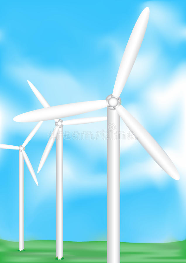Download Wind electric stock vector. Illustration of global, renewable - 13696827
