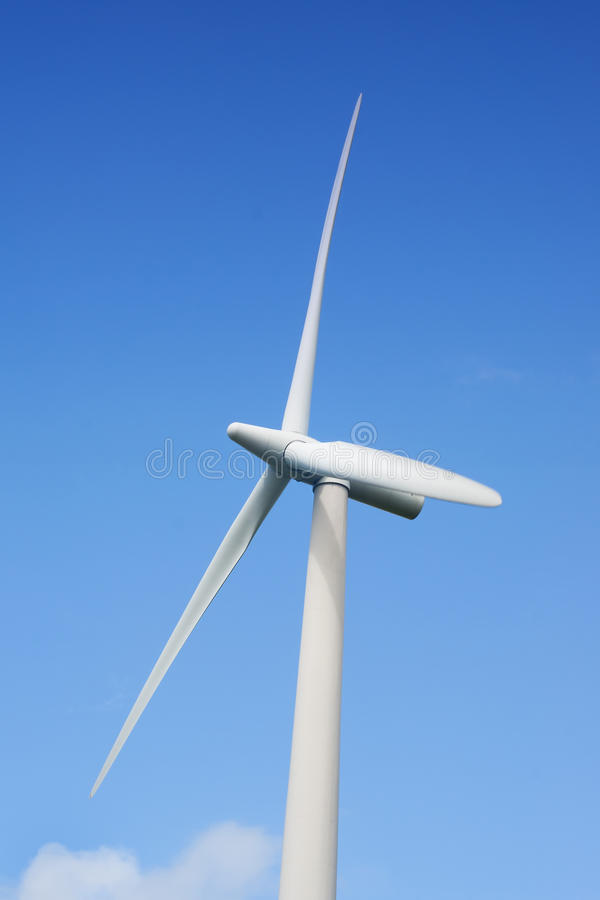 Wind energy. Alternative energy windpower for a clean environment stock photo