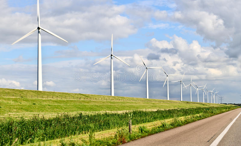 Wind energy royalty free stock photos