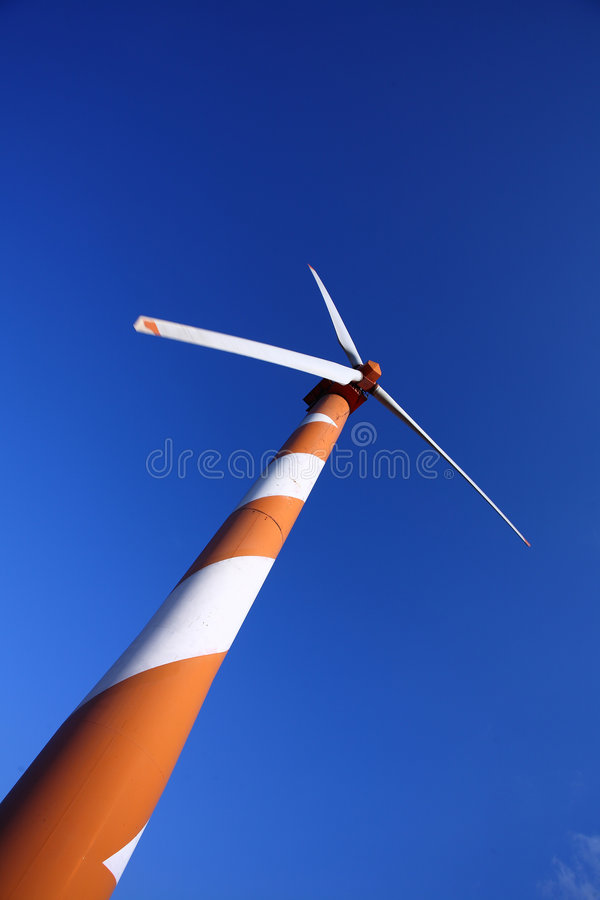 Wind Energy. Wind turbine making green electricity royalty free stock image