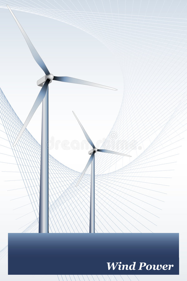 Wind Energy - Brochure cover or Business card stock illustration