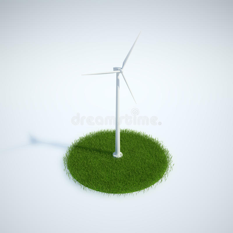 Wind energy concept royalty free illustration