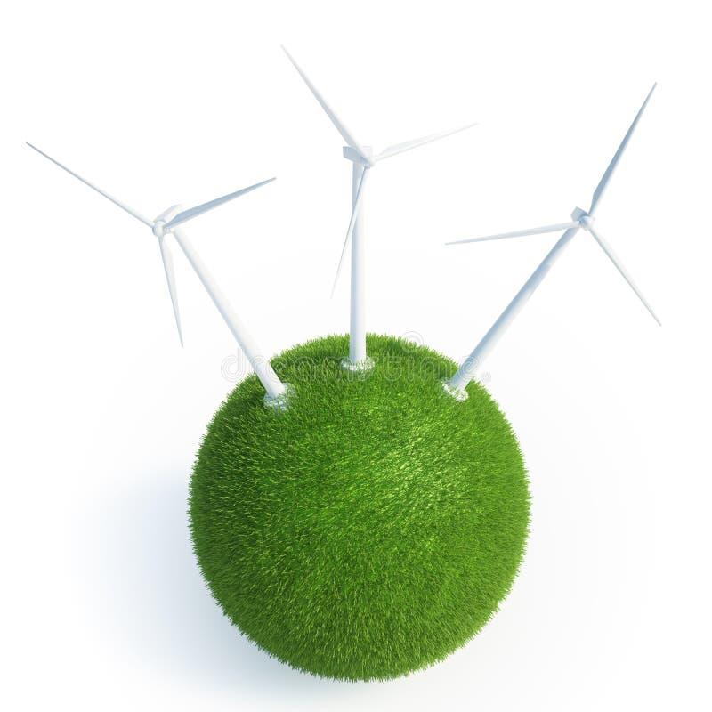 Wind energy concept stock illustration