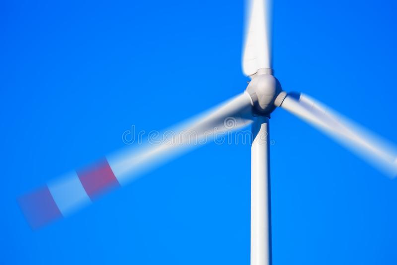 wind energy detail blue sky royalty free stock photography