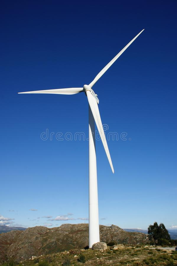 Wind energy in Fafe mountains stock photography