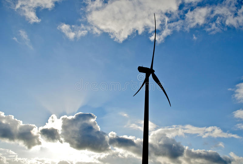 Wind energy generator stock images
