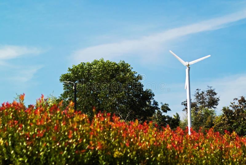Wind Energy. An Wind Energy in morning light royalty free stock photos