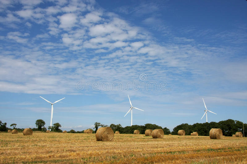Wind energy plant royalty free stock images